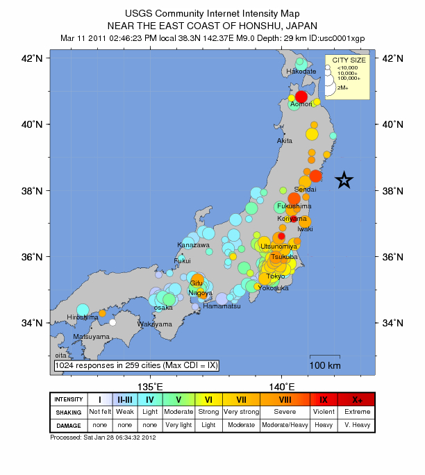 The Tohoku Earthquake in Japan