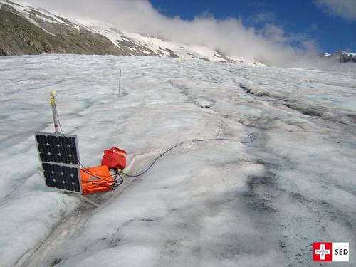 SED Field Campaign on Rhonegletscher in the Swiss Alps