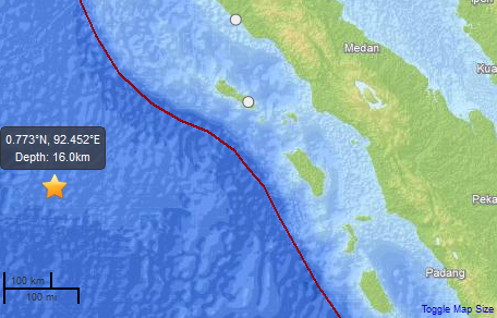Earthquake off Sumatra