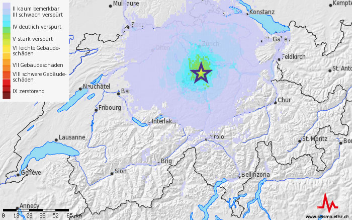 Earthquake near Zug