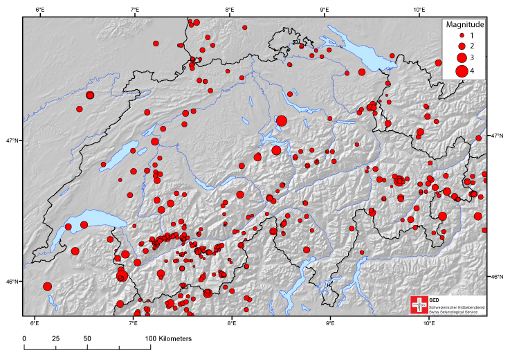 Earthquakes in Switzerland in 2012: a review