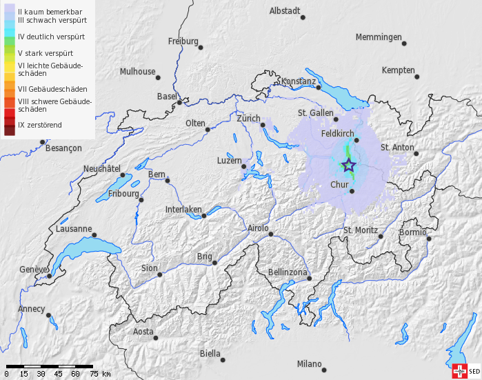 Earthquake in Liechtenstein