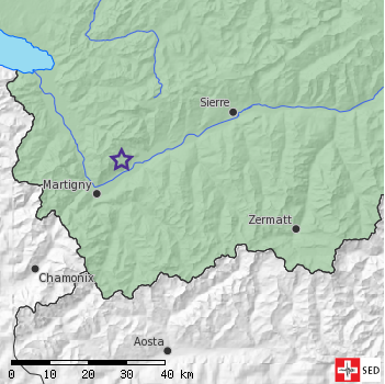 Small earthquake near Saxon (VS)