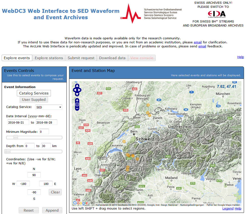 Improved Access to Earthquake Data