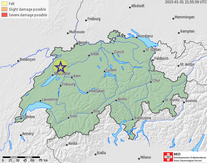 Earthquake near Biel (BE)