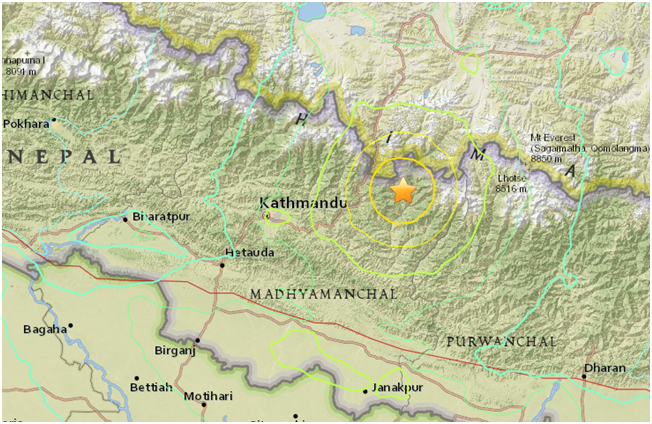 Another Strong Earthquake in Nepal