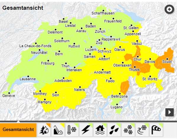 MeteoSwiss-App and Federal Authorities' Natural Hazards Portal