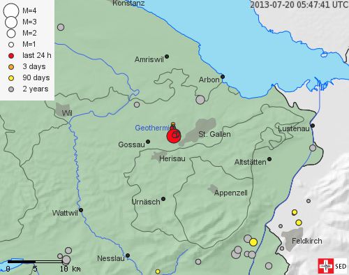 Earthquake near St. Gallen clearly felt